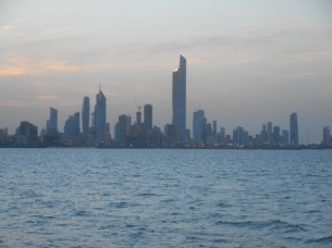 """""""This is when we were sailing along the city shore to Marina Mall. The sky was so beautiful and peaceful."""" Kea.3"""